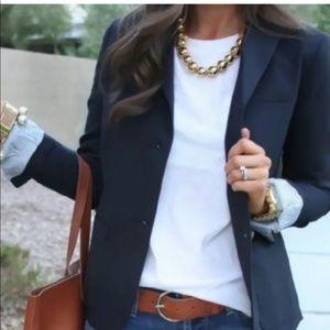 Gap Navy The Academy Blazer Size 8 Contrast cuffs